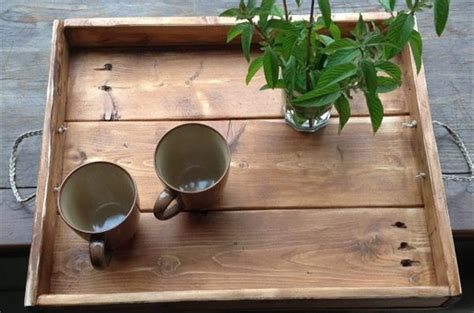 diy tray diy wooden pallet serving trays pallets designs