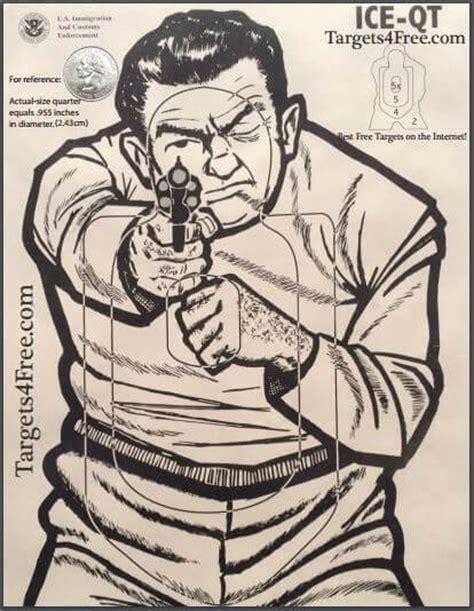 printable bad guy targets targets4free print your own shooting targets