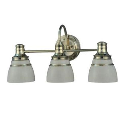 home depot bathroom lighting fixtures martha stewart living seal harbor collection 3 light