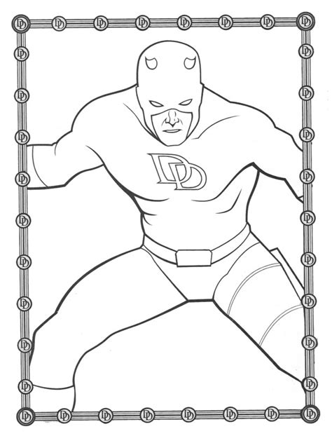 Daredevil The Without Fear Daredevil Coloring