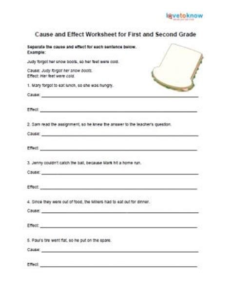 Cause And Effect Worksheets 2nd Grade by 2nd Grade Printable Worksheets