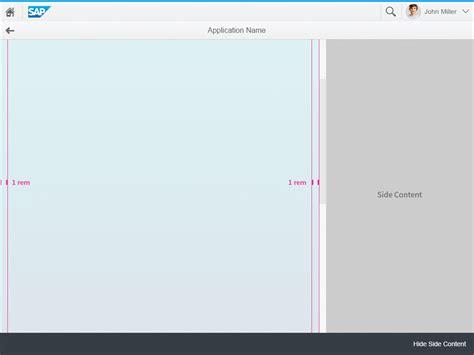 qt layout dynamic size dynamic side content sap fiori design guidelines