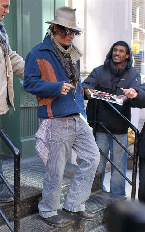 Johnny Depp Gets Spotted by Johnny Depp Spotted At The Big Apple Today Luke Williams