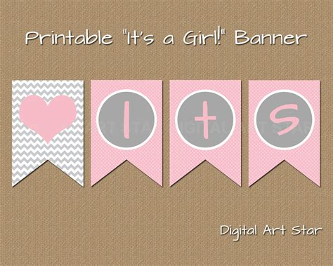 printable banners for baby shower printable baby shower banner diy its a girl banner pink
