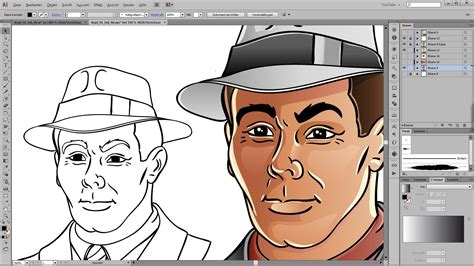 how to doodle in illustrator drawing and coloring tutorial for adobe illustrator
