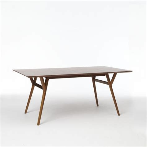 west elm mid century expandable dining table oh