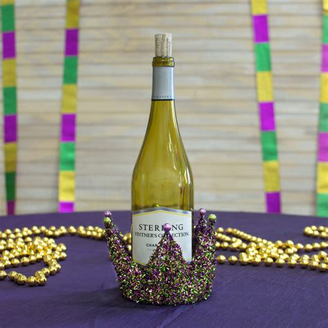 mardi gras tinsel crown decoration mgca