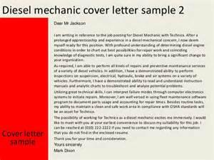 Auto Mechanic Apprentice Cover Letter by Diesel Mechanic Cover Letter