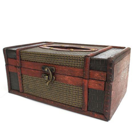 Vintage Design Tissue Box Tempat Tissue Antik Big Ben Large Tissue Box Trunk Style Ancient Wisdom Drop