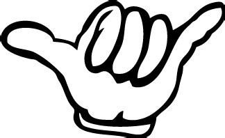 The gallery for --> Shaka Hand Tattoo Clip Art Hang Loose