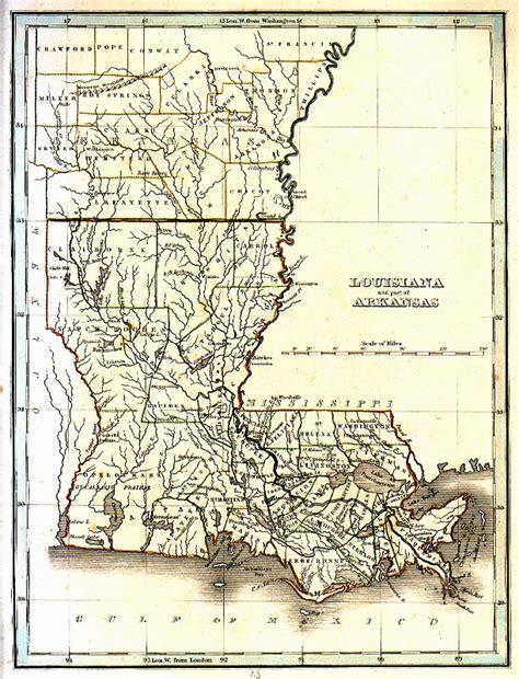 louisiana arkansas map tngenweb louisianna arakanas 1835 map