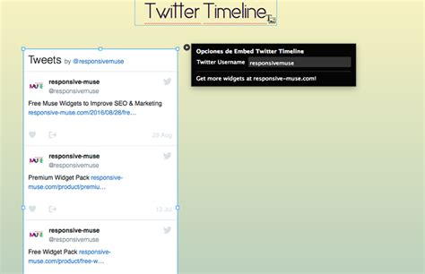 twitter timeline responsive muse templates widgets
