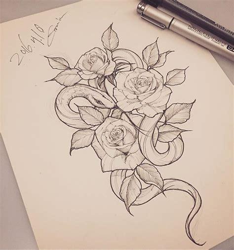 tattoos of snakes and roses best 25 snake ideas on black snake