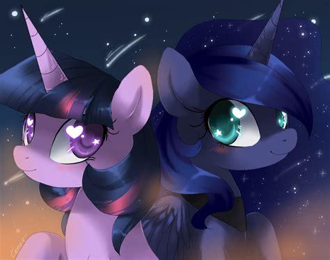 princess luna my little pony fan labor wiki wikia image twilight sparkle and princess luna by artist