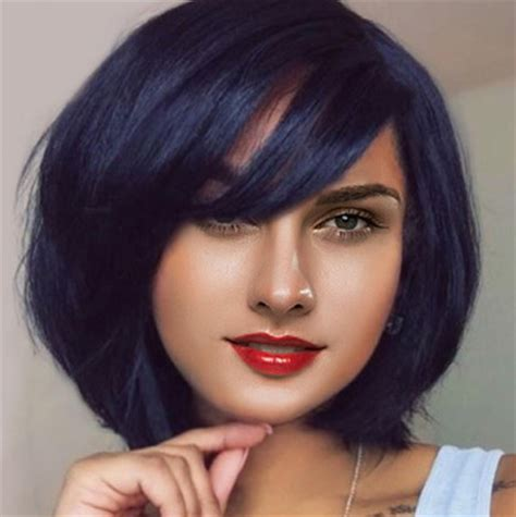 hairstyle with wigs with bangs for african women 12 quot bob wigs with bangs wigs for african american women