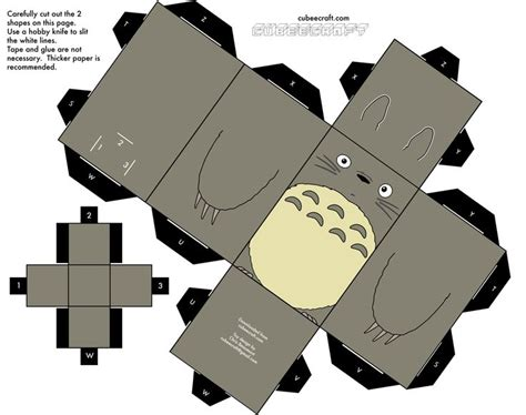 Anime Papercraft Printable - printable block totoro from www cubeecraft baby