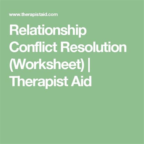 Relationship Conflict Resolution Worksheets by The 25 Best Ideas About Conflict Resolution Activities On