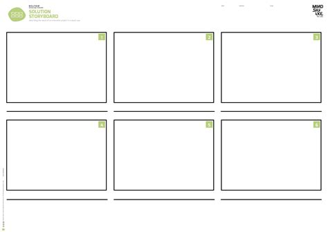 Design Storyboard Template by Solution Storyboard Mindshake Design Thinking Templates