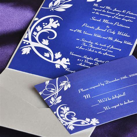 blue elegant floral swirl damask with grey pocket