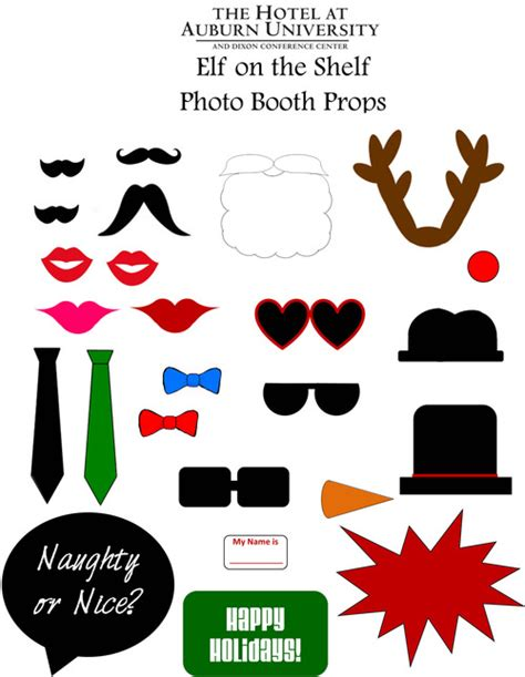 Printable Elf Props | diy elf on the shelf photo booth props elfontheshelf