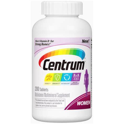 centrum multivitamin tablets 200 ct jet