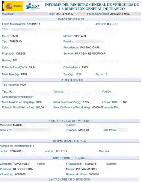 solicitar certificado que acredite la titularidad de la cuenta bancaria 191 por qu 233 pedir un informe registral de la dgt