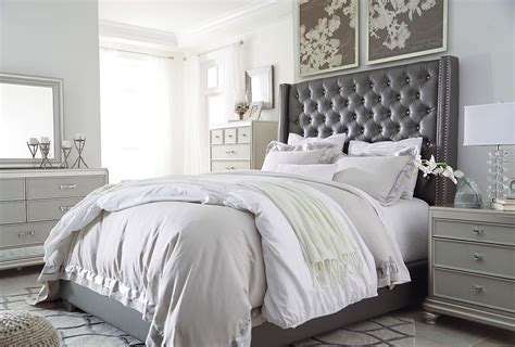 coralayne upholstered bedroom set  signature design  ashley furniturepick