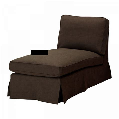 Slipcover For With Chaise by Ektorp Chaise Longue Cover Slipcover Svanby Brown