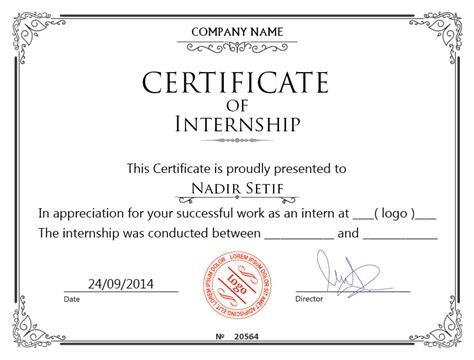 internship certificate template design internship certificate freelancer