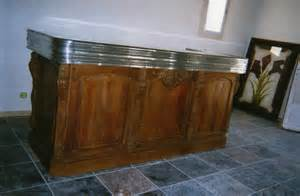 bar comptoir zinc de bistrot en acajou xixe si 232 cle n