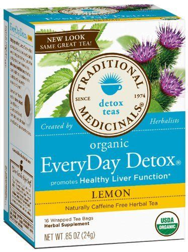 How Does Liver Detox Tea Work by Traditional Medicinals Lemon Everyday Detox Herbal Tea