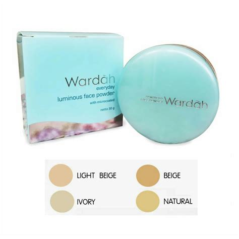Bedak Wardah Luminous Powder 02 Beige harga spesifikasi wardah luminous powder 01 light