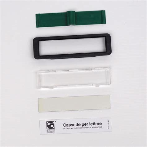 targhette per cassette postali targhetta portanome per cassetta postale silmec silmec