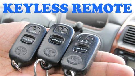 Toyota Remote Programming 2008 Toyota Camry Key Programming Toyota Key Keyless