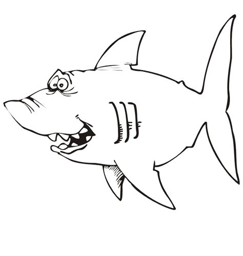 cartoon shark coloring page free shark cartoon do not appear when printed only 9359