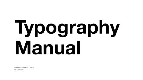 font design manual 10 typography rules blind