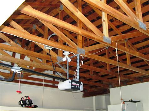 Garage Storage In Rafters Diy Dithering Painting Garage Trusses And Shingles