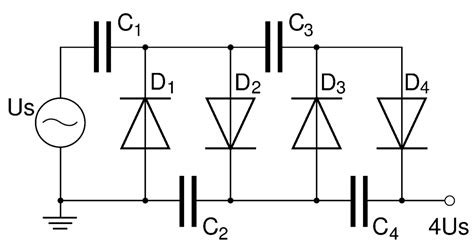 multiplier circuit diagram voltage multiplier