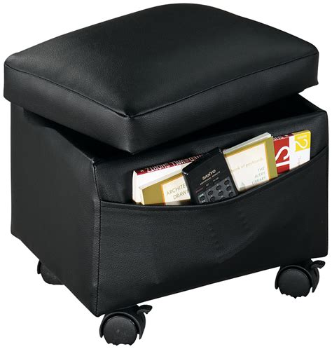storage ottoman with casters flip top storage ottoman by walterdrake