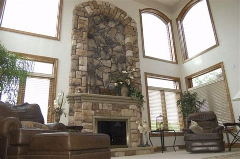 River Rock Veneer Fireplace by River Rock Veneer Fireplace Fireplace Designs