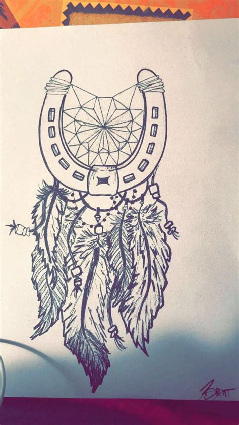 horseshoe dreamcatcher tattoo friend tattoos shoe catcher idea for