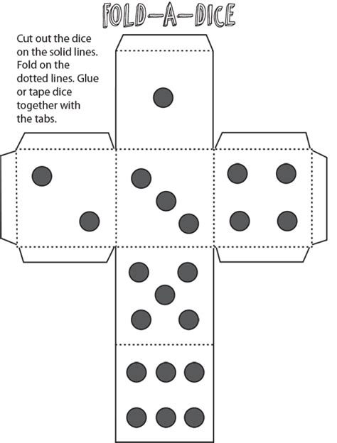 printable foldable dice drawing games for kids archives how to draw step by step