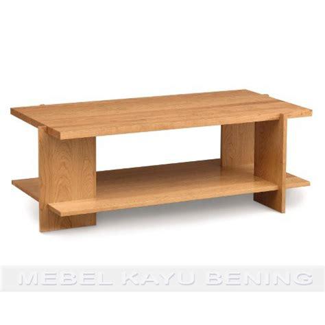 desain meja kayu meja tamu kayu jati desain minimalis metro