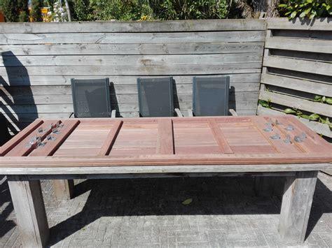 tafel in hout maken zelf een hardhouten tuintafel maken eppinga nl