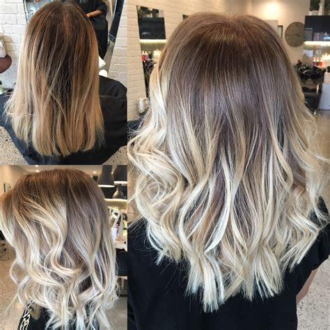 before and after pictures of balayage before and after balayage and babylights balayage blond