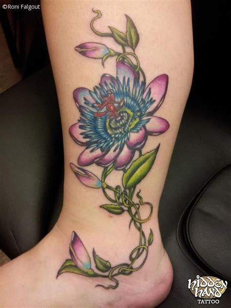 passion flower tattoo designs flower tattoos