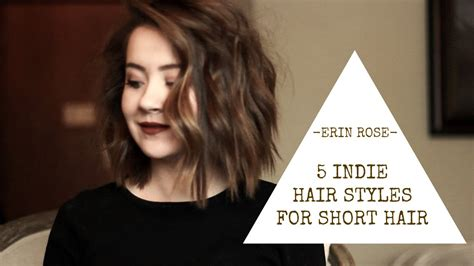 how to do hair scupture for short hair 5 hairstyles for short hair erin rose youtube