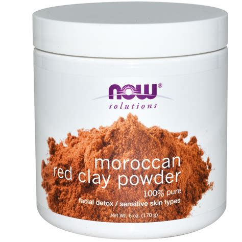 Harga Termurah Now Solutions Moroccan Clay Powder 170 Gr now foods solutions moroccan clay detox powder 6 oz 170 g iherb