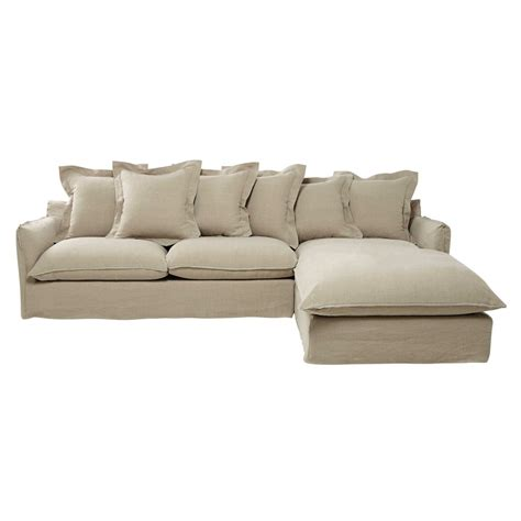 7 seater couch 7 seater washed linen corner sofa in ecru barcelone