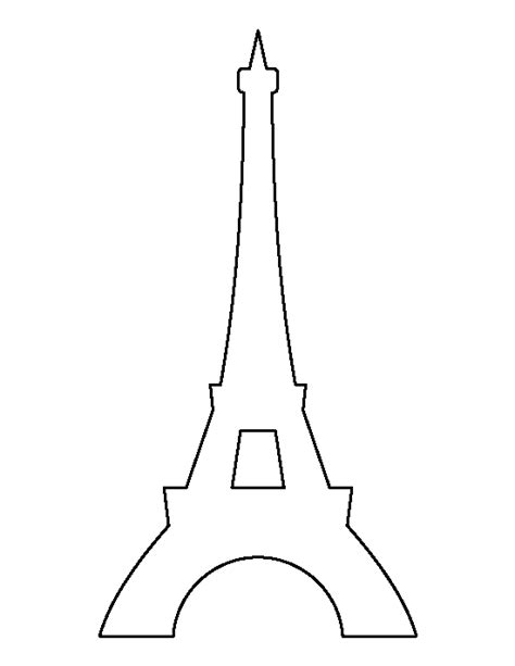 Eiffel Tower Template Free eiffel tower pattern use the printable outline for crafts